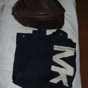 michael kors lot of 2 purse tote